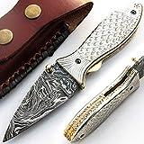 PAL 2000 Coltello fatto a mano in acciaio damasco con fodera, coltello da collezione, coltello da cucina, coltello da cucina, collezione 9516