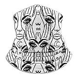 XCNGG Manos con el Ojo Que Todo lo ve en la Palma Misticismo, pasamontañas Diadema Multifuncional Bufandas A Prueba de Viento Deportes y Sombreros Casuales