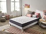 Elegance Confort Colchón Vital 135X190 cm con 19 cm de Altura y Espuma Soft HR, Blanco, Cama Doble