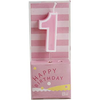 1 Pink 1-Pack 3-Inch by 1.5-Inch No Wilton W91-01P Polka Dot Numeral Candle