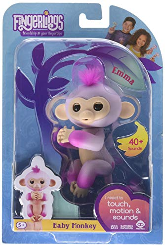 Fingerlings Interactive Monkey 2-Tone - Pink to Pink - Emma