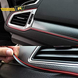 NGA carStickers 5M Red Car Interior Moulding Trims Line Strips Car Styling Door Dashboard Air Outlet Decorative Sticker Auto Accessories