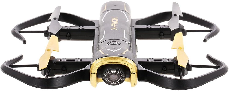 TLgf Klappdrohne, XT-5 720P WiFi Vier-Achsen-Fest-Drohnen-HD-Luftbildfotografie Anti-Tabel-Fernbedienungsflugzeug für Outdoor-Shooting