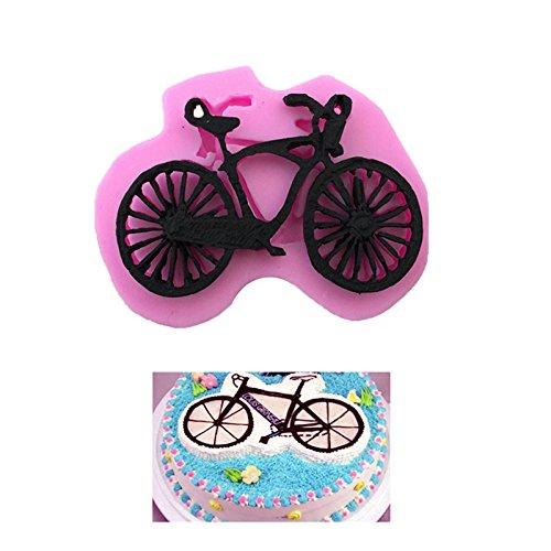 Cosanter - Stampi per Dolci,Muffa della Torta del Fondente del Silicone Liquido della Bicicletta del Fumetto