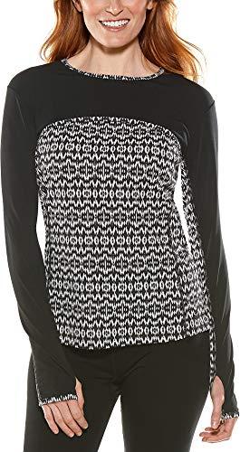 Coolibar Damen Coastal Convertible Badeshirt UPF 50+ Sonnenschutz - schwarz - Large