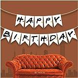 BCARICH Friends - Cartel de felicitación de cumpleaños con texto en inglés 'Happy Birthday', bandera de fiesta temática de amigos, suministros para fiestas para fans de amigos, pancarta de...