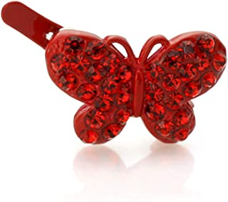 Hair Barrettes for Women Faux Rhinestone Butterfly Magnetic Hair Barrette Decorative, 1pc (Choice of Color)