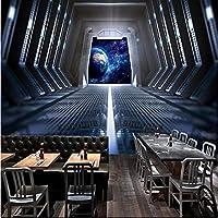 Iusasdz カスタム写真壁紙3DステレオパーソナリティスペースカプセルバーKtvレストランカフェ背景壁画モダンファッションフレスコ-150X120Cm