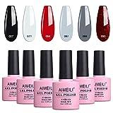 AIMEILI Esmalte Semipermanente Para Uñas Soak Off UV LED Uñas De Gel Color Combinado/Color De La Mezcla/Multicolur Set 6 X 10ml - Set 28