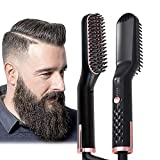 Johnbo AU Plug Hair Straightening Brush, Beard Straightener Brush, 3-in-1 Ionic Straightening Comb