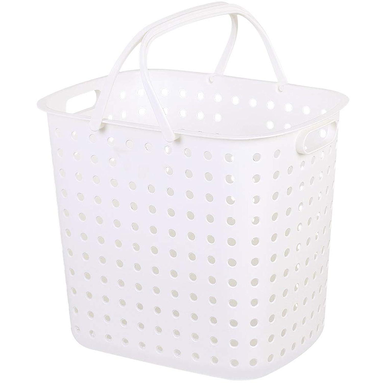 QYSZYG 汚れた衣類の収納バスケット大型ハンマー洗濯バスケットの家、2パック、白、茶色 収納バスケット