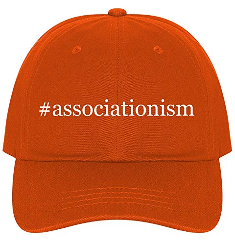 The Town Butler #Associationism - A Nice Comfortable Adjustable Hashtag Dad Hat Cap, Orange, One Size