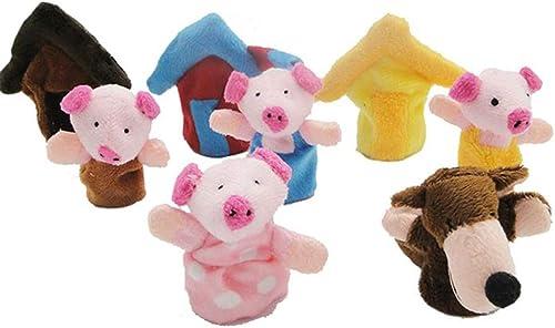 Aofocy Marionnettes à Doigt en Peluche marionnette à Doigt poupées Jouets Jouets éducatifs pour bébé et Enfants en Ba...