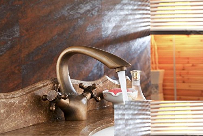 MNLMJ SpülbeckenhahnModerne einfacheKupfer hei und kalt Spülbecken Wasserhhne Küchenarmatur Wasserhahn antikenKupfer Becken heien und kalten Mischer Geeignet für alle Badezimmer Küchenspülen