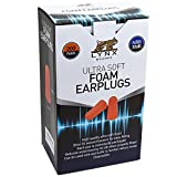 Lynx Ultra Soft Foam Ear Plugs, [200 Pairs], 32dB Highest NRR, Very Comfortable Hearing Protection -...