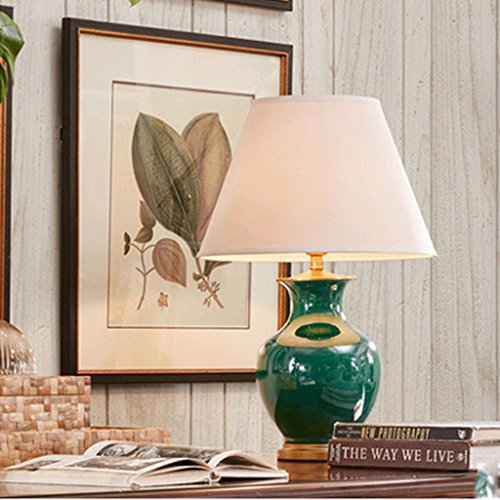 William 337 Nouvelle Lampe de Table en Céramique Chinoise - Moderne Haut de Gamme Maison Salon, Lampe de Lit (0735)