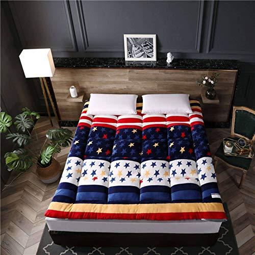 Japanese Traditional Futon, Wool Wrap Tatami Foldable Cushion Mats, Futon Sleep Floor Mat Dormitory Mattress Pad Kids Sleeping Pad-120x200cm(47x79inch)-H