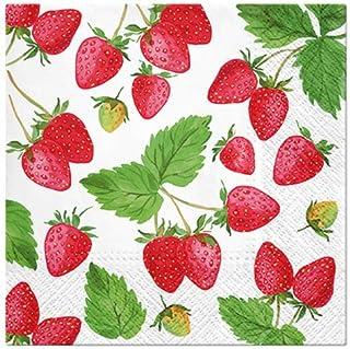 20 Servietten Erdbeeren frisch gepflückt | Essen | Sommer |