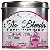 TIA BLENDA - BÁLSAMO PARA EL CATARRO (70 g) - Exquisito Té negro Assam BOP de alta calidad con eucalipto. Té en hojas. 40 - 50 tazas. Presentación premium en lata. Loose Tea Caddy.