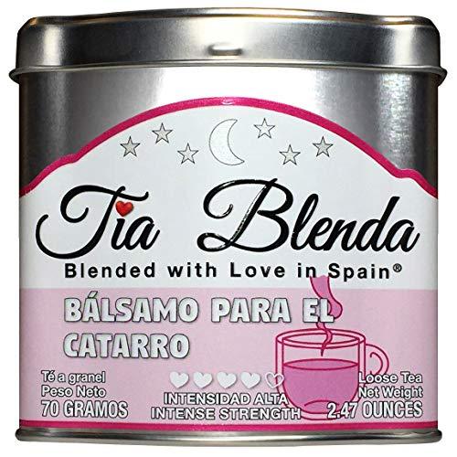TIA BLENDA - BÁLSAMO PARA EL CATARRO (70 g) - Exquisito TÉ NEGRO Indio Assam BOP Premium con EUCALIPTO. Té en hojas. 40 - 50 tazas. Presentación premium en lata. Loose Tea Caddy