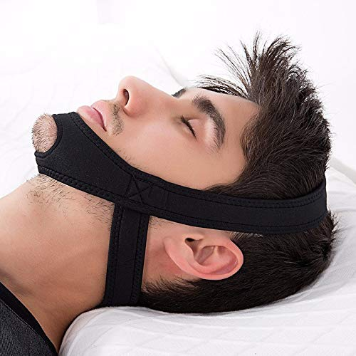 Anti Snoring CPAP Chin Strap by SNUDDLE - Unisex Premium Snore Stopper Guard for a Natural Snore Relief - No Snore Mask - Adjustable Snoring Sleep Aid for Men and Women! Snoring Solution