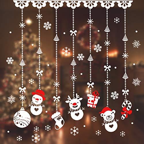 JINOO Kerstmis raamsticker, 180 stuks sneeuwvlokken stickers, sneeuwvlokken vensterafbeelding voor winter en Kerstmis raamdecoratie set