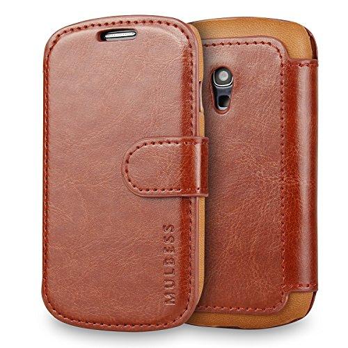 Mulbess Cover per Samsung Galaxy S3 Mini, Custodia Pelle con Magnetica per Samsung Galaxy S3 Mini Caso, Marrone