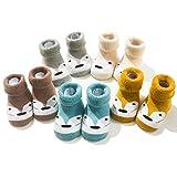 Hocaies Baby Socken Kleinkind Kleinkinder 5 Paare Babysocken ganzjährig Lieblich Weich Socken für Jungen Mädchen Indoor Outdoor (E4, 6-12 Monate)