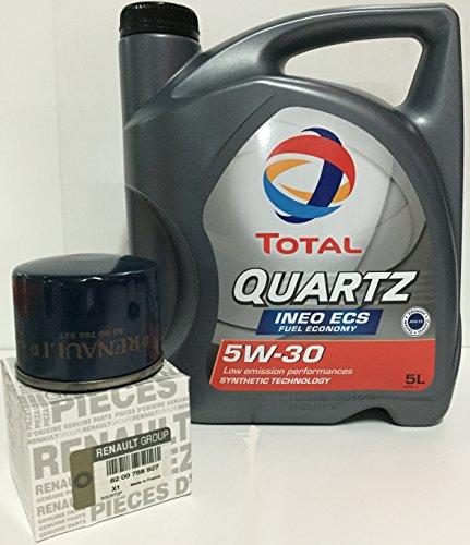 Pack TOTAL Quartz Ineo ECS 5W30 5 lts + Filtro aceite orginal motores DCi (82 00 768 927)