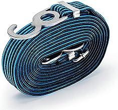 Bungee koord voor fiets motorfiets rek met 3 cm hoge sterkte metalen haak + hoge sterkte nylon vlecht, hoge stretch latex ...