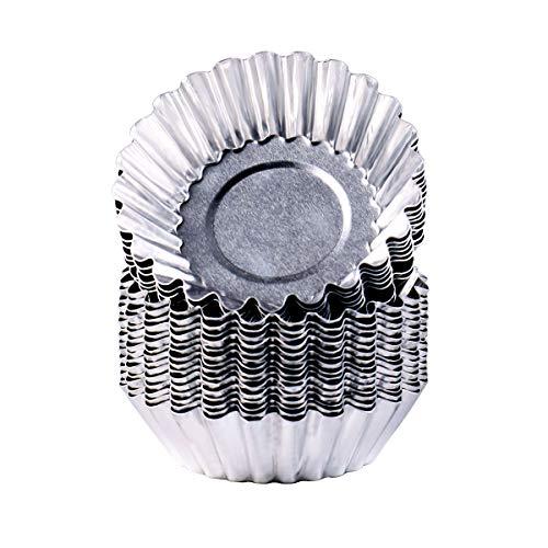 22 Pcs Egg Tart Molds Made of Aluminum, Non-Stick Pan and Reusable Baking Tools(2.75 Inch)
