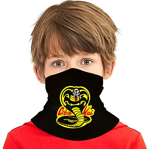 Wangqiuying19 Cobra Kai Karate Dojo Kinder Kühlende Halstücher Gesichtsabdeckung für Jungen Mädchen Outdoor Schal Bandana Kopfbedeckung