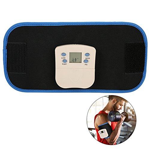 Slim Waist Belt, Electronic Massager Digital Muscle Strengthening Arm leg Waist Slimming Massager Body Building Belt Pain Relieve Tool with 2 Pads and Massage Cream