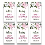Personalized Pink Rose Favor Sticker for 2 Ounce Bottles   Set of 20 Customized Pink Floral Baby Shower Favor Labels   Party Favor Stickers for Plastic Bottles (RSL102)