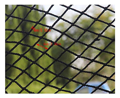 T5S6 Schwarz Protective Net Kindertreppensicherheitsnetz Balkon Anti-Fallen Net Zaun-Netz Football Net Dekoration Net hängende Kleidung Net Restaurant Bar (Size : 1x4m)