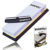 Knife Sharpening Stone kit - Whetstone With Black silica non-slip Base - Free Sharpening...