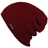 Slouchy Beanie for Men & Women by King & Fifth | Premium Quality and Stylish + Warm Winter Hat Burgundy Maroon