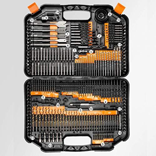 YELLAYBY HSS 246PCS Acero Inoxidable bit Set Fresa Espiral de Acero de Alta Velocidad Brocas Manual de Torsión Madera en plástico y Aluminio