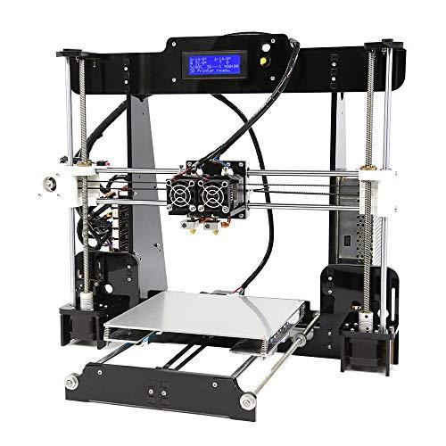 MJZHXM Imprimante 3D A n e t A8 M Haute Précision Bureau 3D Imprimante Reprap I3 DIY Auto-Assemblage MK8 Extrudeuse Buse Acrylique Cadre LCD Écran