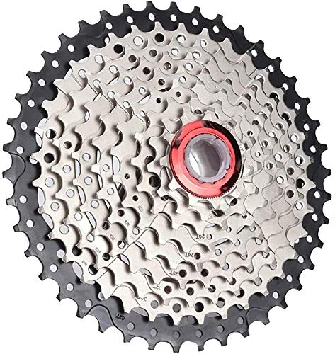 GJX Cassette para Bicicleta MTB 9 Speed Cassette 11-40T / 42T Amplia proporción for Bicicletas MTB 9S Rueda Libre Compatible for Sram (Color: 9S 42T) (Color : 9s 42t)