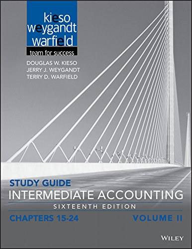 Study Guide Intermediate Accounting, Volume 2: Chapters 15 - 24