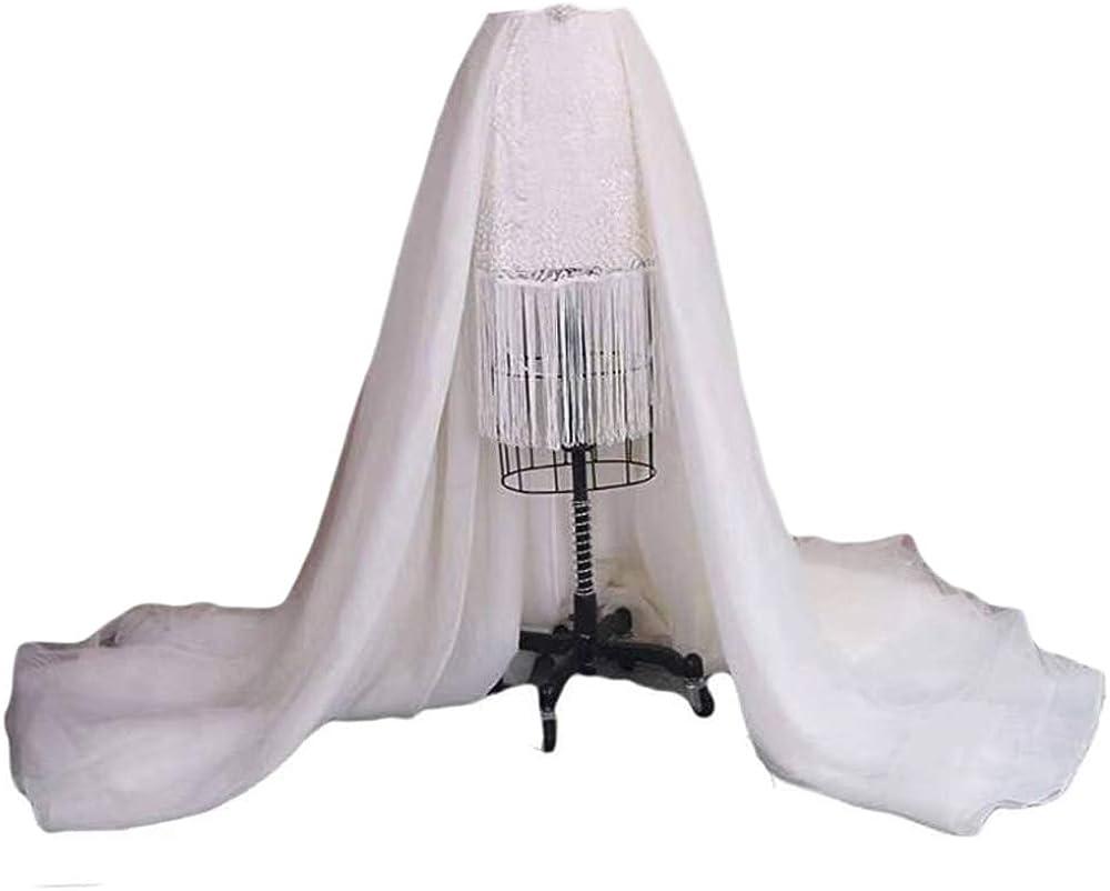 Simlehouse 3 Layers Tulle Overlay Skirt White/Ivory Bridal Detachable Overskirt