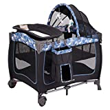 Pamo Babe Portable Baby Nursery Center Play Yard with Wheels(Black)