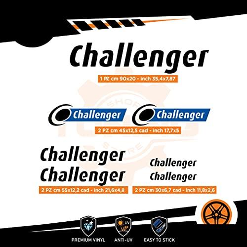 Generico Kit Adesivi Camper Challenger - Versione D