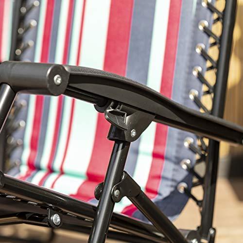 Trespass Glentilt Padded Reclining Sun Lounger Summer Pool Patio Outdoors Garden Chair ASTONSHEDSUK