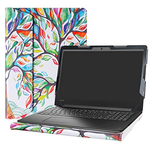 Alapmk Diseñado Especialmente La Funda Protectora de Cuero de PU para 15.6' Lenovo IdeaPad 310 15 310-15ABR 310-15ISK 310-15IKB & IdeaPad 510 15 510-15isk 510-15ikb Ordenador portátil,Love Tree