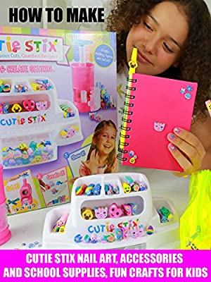 How To Make Cutie Stix Nail Art, Accessories and School Supplies Fun Crafts For Kids