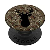 Deer Silhouette Hunting Buck Camo Black Fathers Day Gift PopSockets PopGrip: Swappable Grip for Phones & Tablets