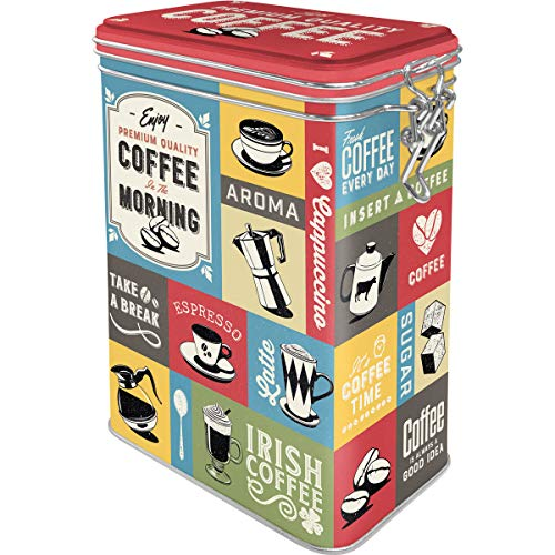 Nostalgic-Art Retro Kaffeedose Kitchen, Plastic, Diseño Vintage, 1,3 L