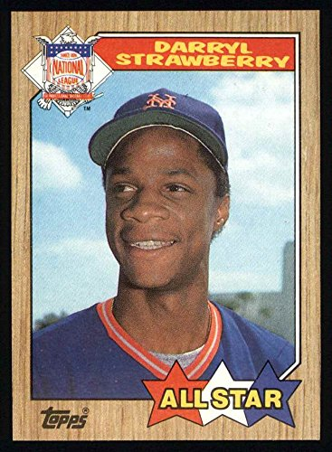 1987 Topps # 601 All-Star Darryl Strawberry New York Mets (Baseball Card) NM/MT Mets